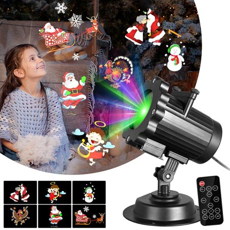 AngelCity Indoor Outdoor Christmas Halloween Holiday Waterproof Decorative 6 Switchable Patterns Slides Landscape Lamp Lighting Projectors With Remote - Halloween Radio Spots