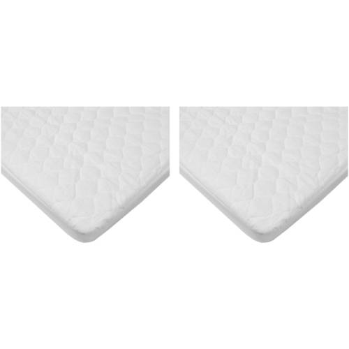 Your Choice TL Care Quilted Fitted Waterproof Fitted Bassinet Mattress Pad Cover, 2 Pack Value -