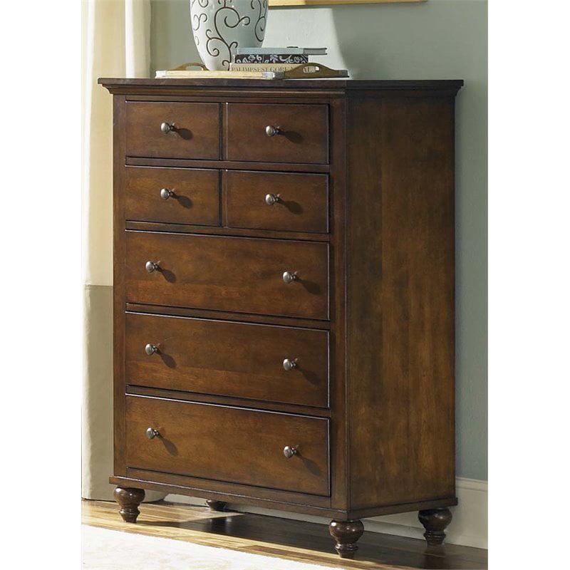 Liberty Furniture Hamilton 5 Drawer Chest in Cinnamon