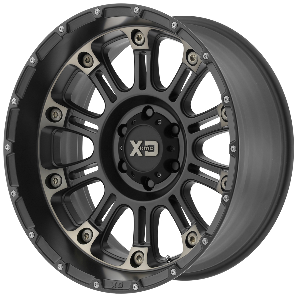 KMC-XD Wheels XD82929085918 XDWXD82929085918 HOSS 2 20x9 5x139.70 SATIN BLACK MACH W/ DARK TINT CLEAR COAT (18 mm)