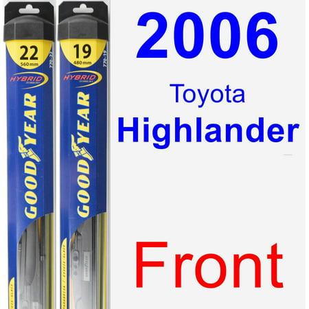 2006 Toyota Highlander Wiper Blade Set/Kit (Front) (2 Blades) - Hybrid