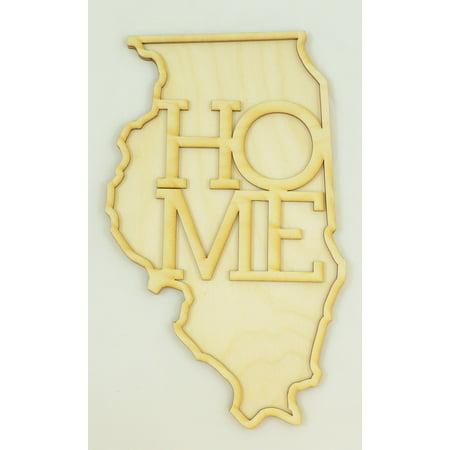 1 Pc, Medium 1/8 Inch Thick Illinois State Cutouts w/