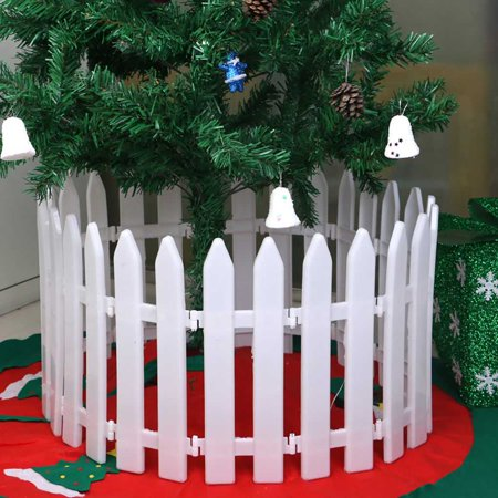 10pcs White Plastic Picket Fence Miniature Home Garden Christmas Xmas Tree Wedding Party Decoration