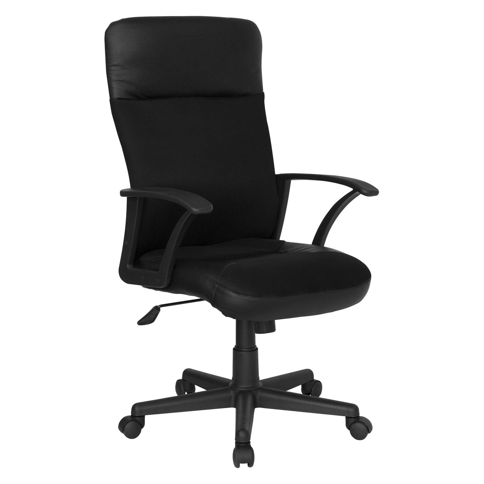 High Back Leather / Mesh Executive Swivel Chair, Black