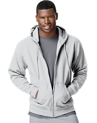 Men's Ecosmart Fleece Zip Pullover Hoodie with Front Pocket by Hanes
