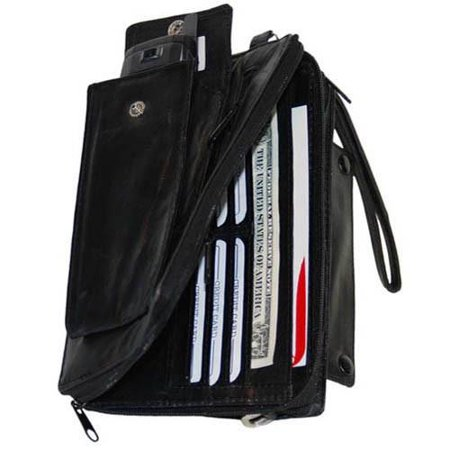 High End Leather Organizer Wallet & Cell Phone Case 102 (C)