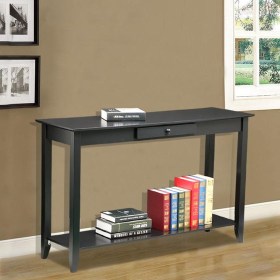 Foyer Console Game : Yaheetech tiers concepts wood console table drawer and
