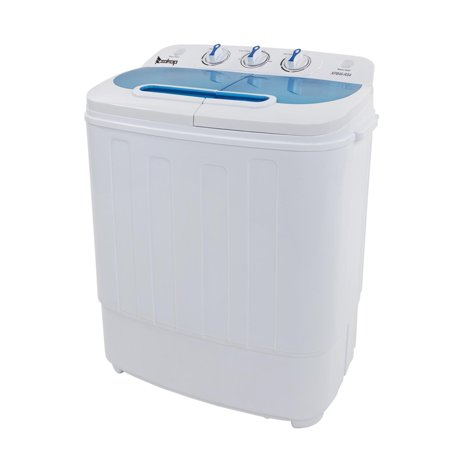 Ktaxon 13.4lbs Portable Mini Washing Machine Compact Twin Tub Wash 7.9LBS+Spin 5.5LBS Capacity Washer Spin Dryer,White &