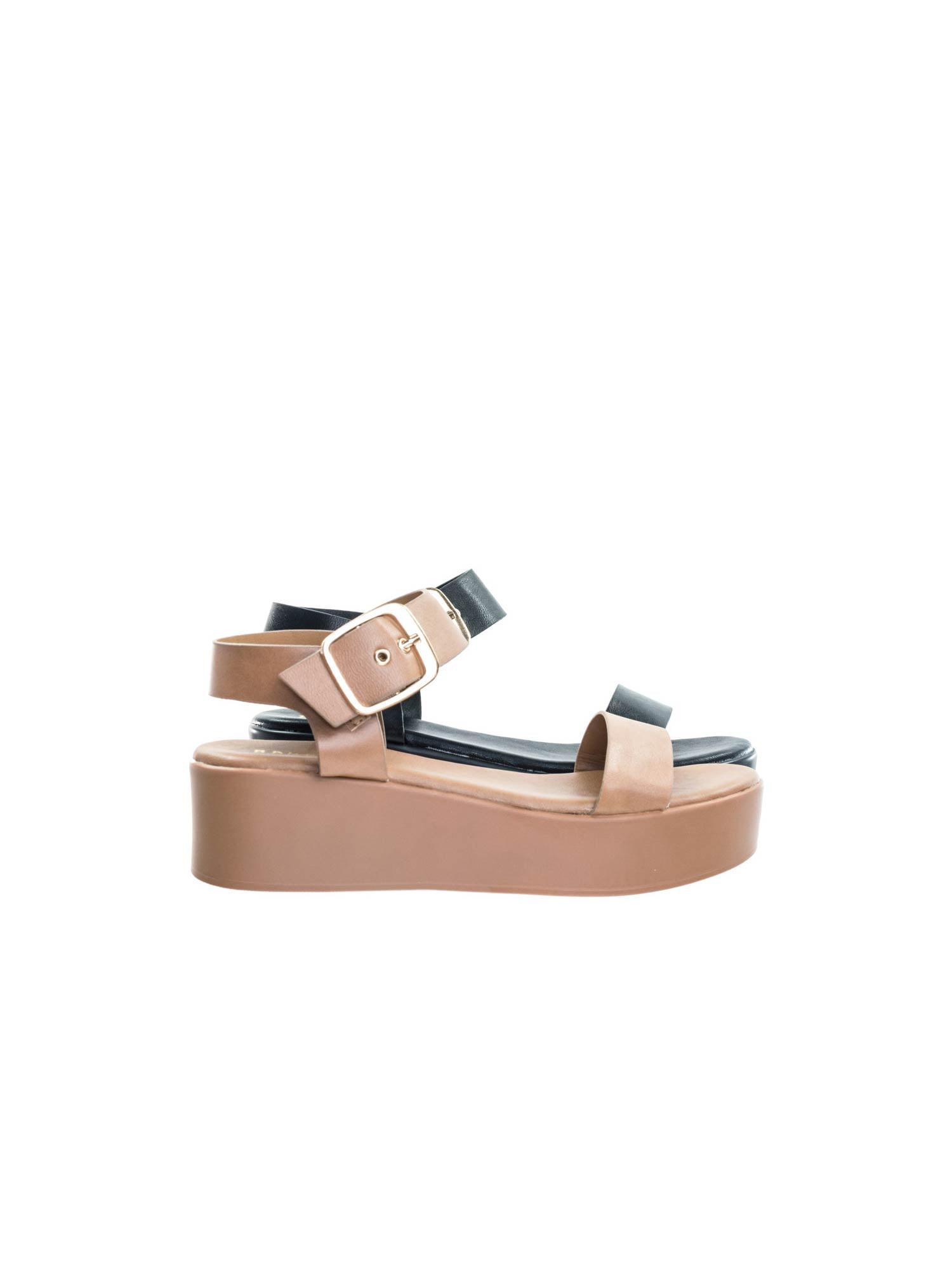 Bonus12 by Bamboo, Flatform Open Toe Sandal w Adjustable Ankle Strap