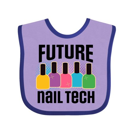 Future Nail Tech Baby Bib Lavender And Purple One Size