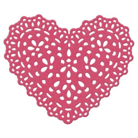 We R Memory Keepers Doily Heart 4-Inch by 4-Inch Die