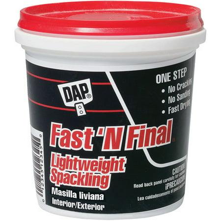 DAP Fast 'N Final Lightweight Spackling, 8 OZ