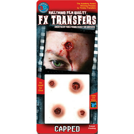 Capped Small 3D FX Tattoos Halloween Accessory (Fx Contact Lenses Halloween)