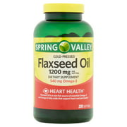 Spring Valley 1200 mg, 200 ct Flaxseed Oil Softgels
