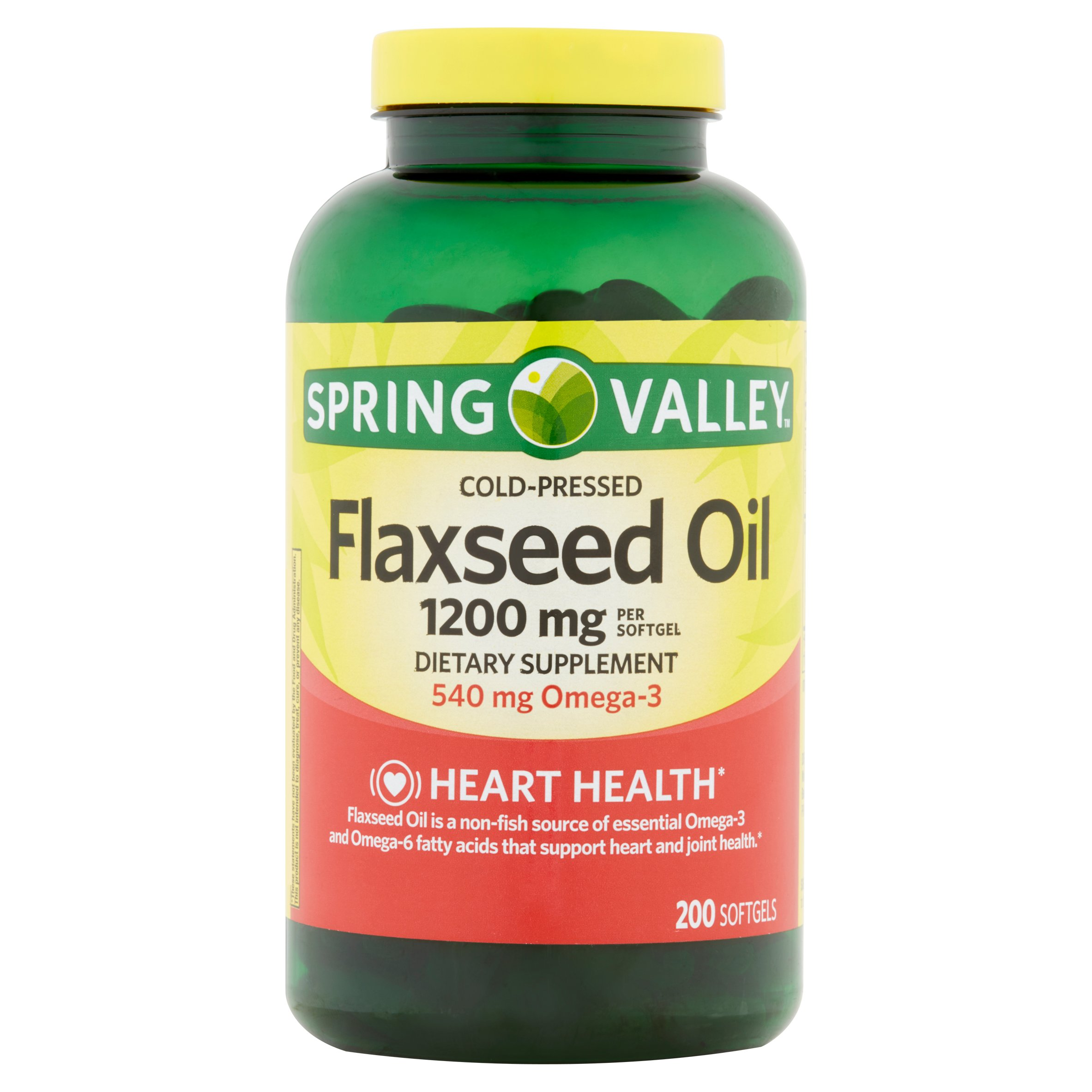 Spring Valley Flaxseed Oil Softgels, 1200 mg, 200 Ct