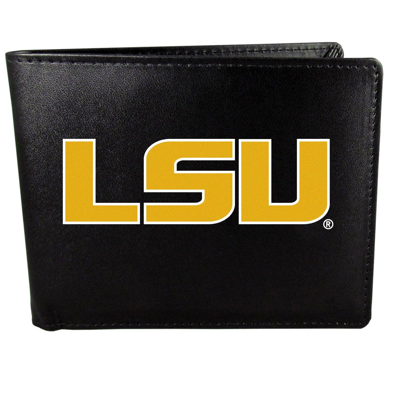 LSU Tigers Bi-Fold Wallet Logo, Large, Black