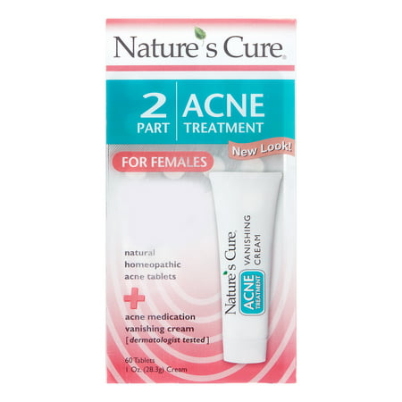 Nature's Cure 2 Part Acne Treatment for Females
