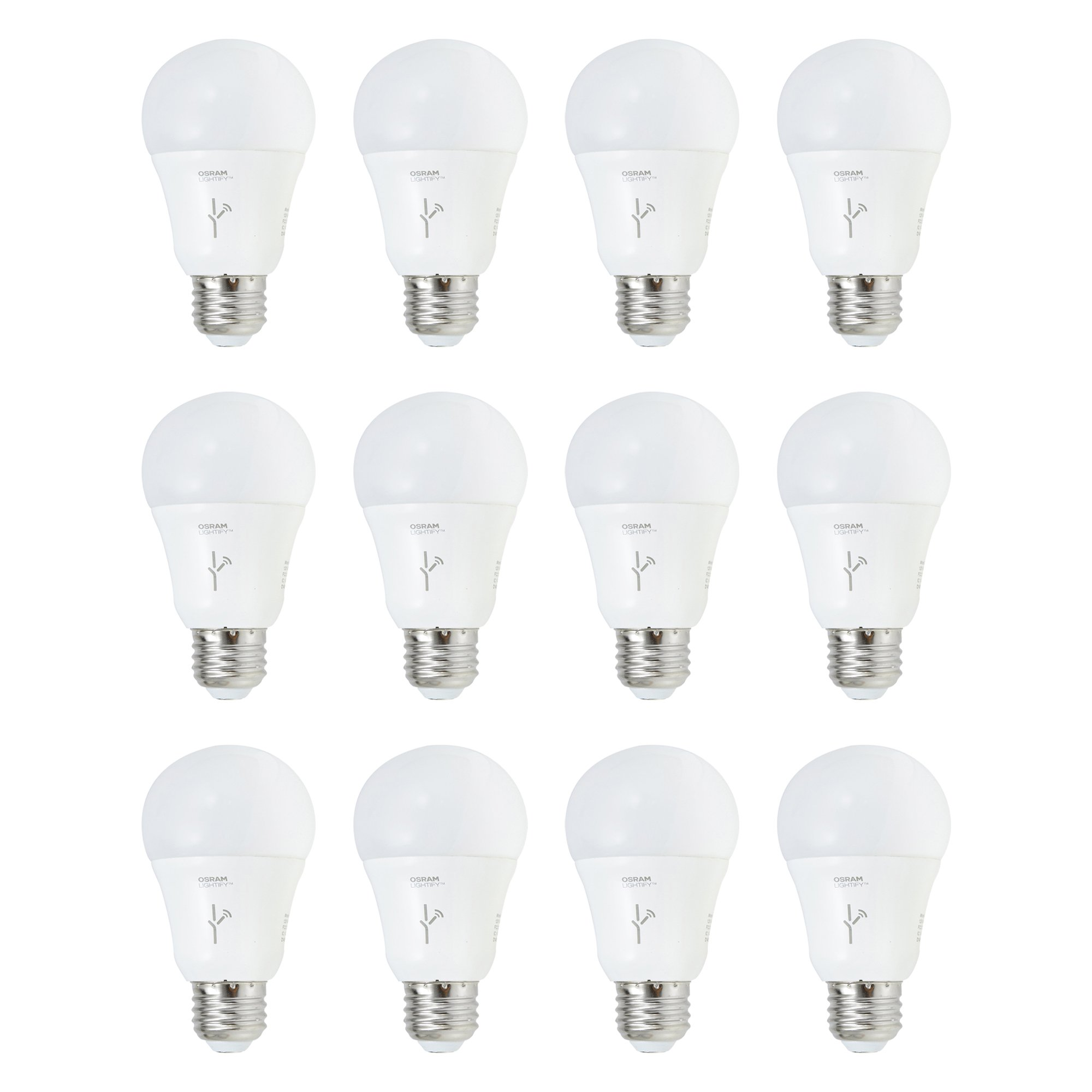 Sylvania Lightify 60-Watt A19 Tunable White Smart Home LED Light Bulb (12 Pack)