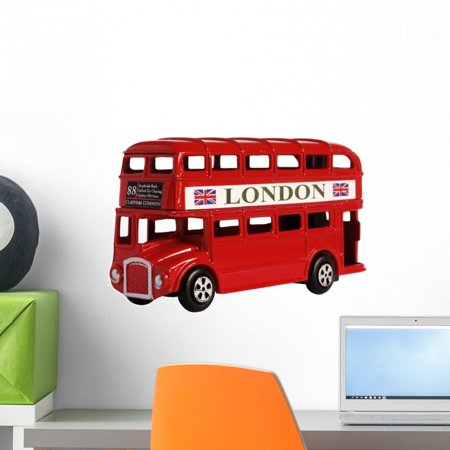 London Bus Wall Decal by Wallmonkeys Peel and Stick Graphic (18 in W x 12 in H) WM354913