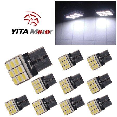 10 X White T10 Led 9Smd Car Interior Side Wedge Light Bulb W5w 194 168 2825 192