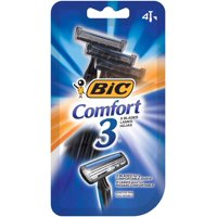 (2 pack) BIC Comfort 3 Disposable Razor, Men, 4-Count