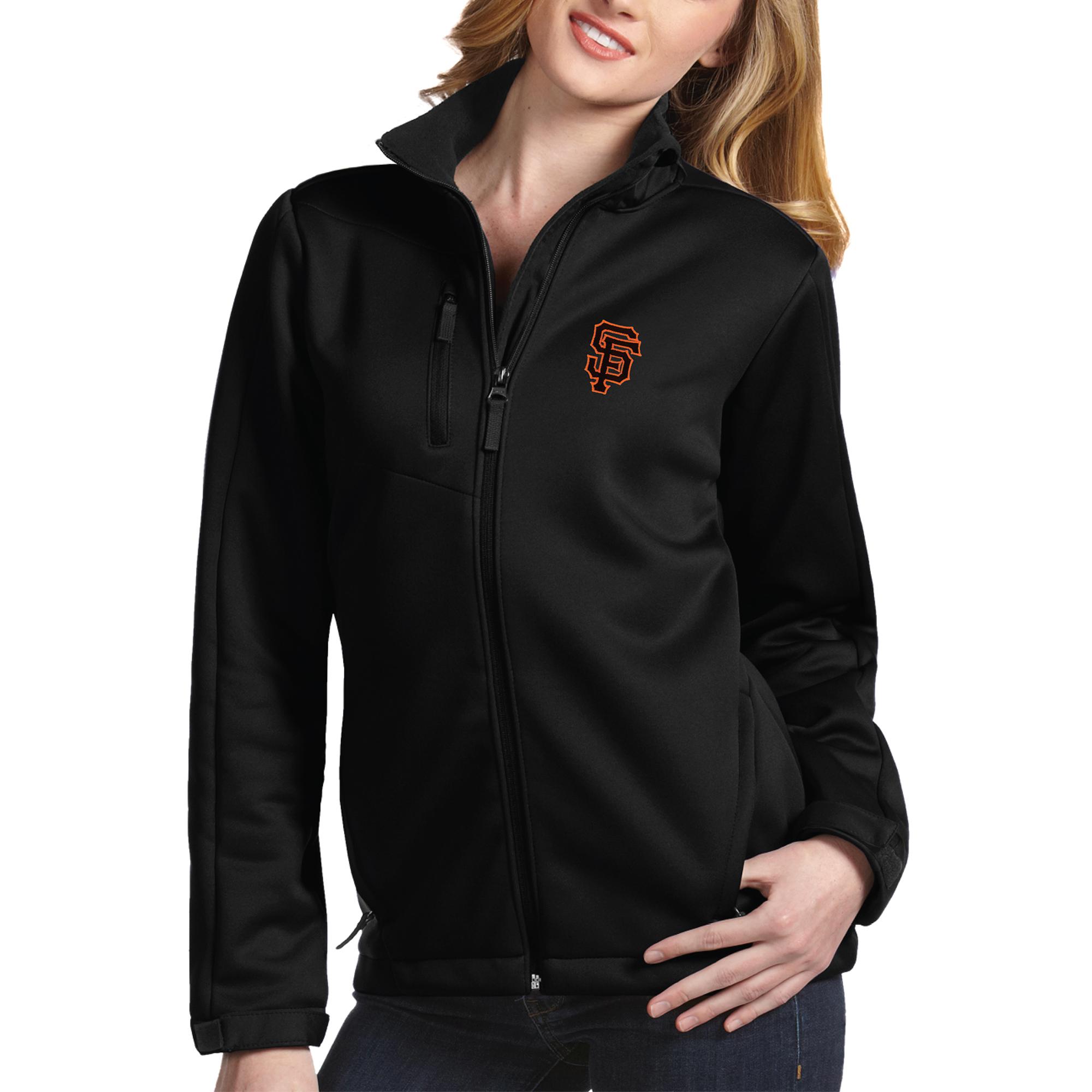 San Francisco Giants Antigua Women's Traverse Jacket - Black
