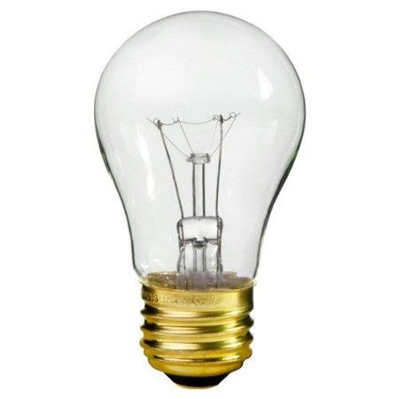 Satco S3814 130V Medium Base 25-Watt A15 Light Bulb, Clear 130v A15 Light Bulb
