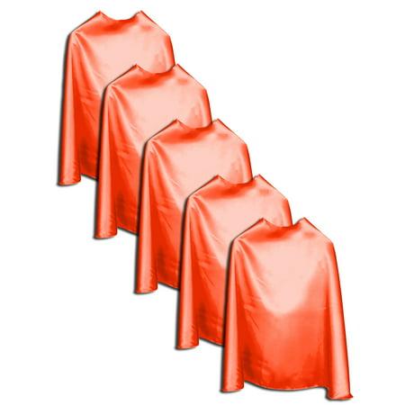 premium Super Hero Capes Adult 5 pack Orange