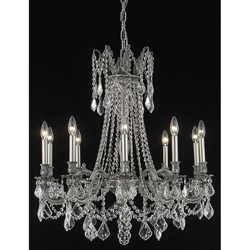 "Elegant Lighting Rosalia 28"" 10 Light Spectra Crystal Chandelier"