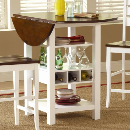 b8771211fa9 Ridgewood Counter Height Drop Leaf Dining Table with Storage - Walmart.com