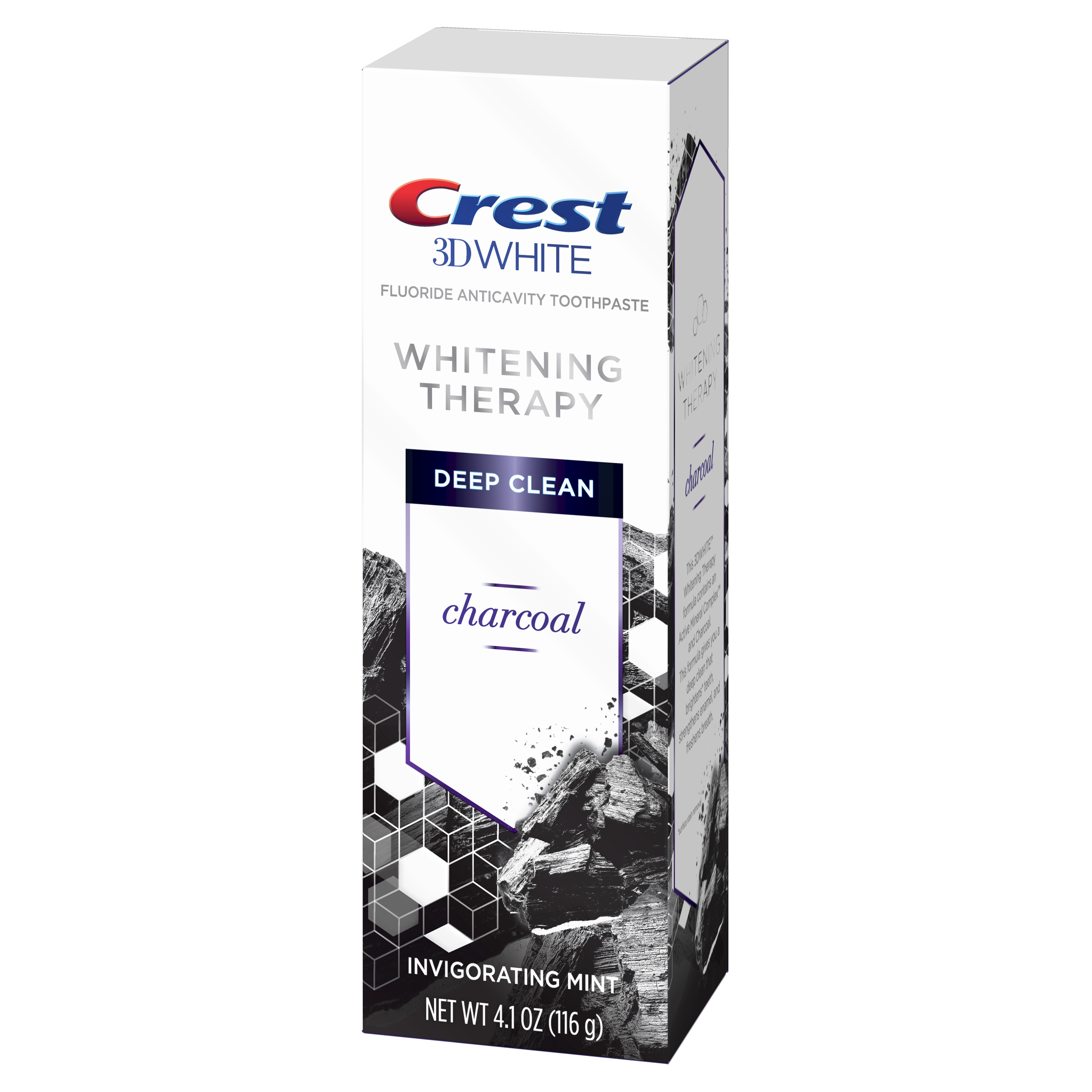 Crest 3d White Therapy Fluoride Toothpaste Charcoal Mint 4 1 Oz