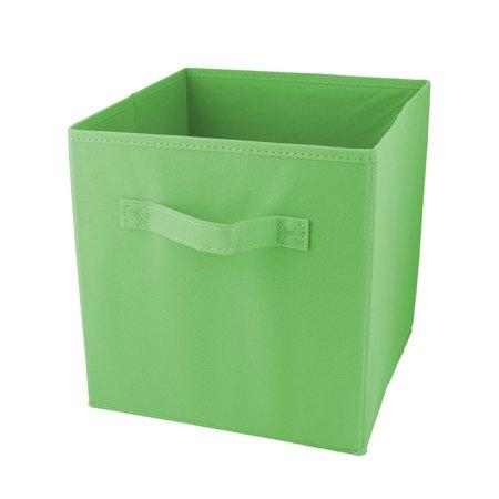 Apartment Non-woven Fabric Foldable Books Cosmetics Holder Storage Box Green](Green Storage Bins)