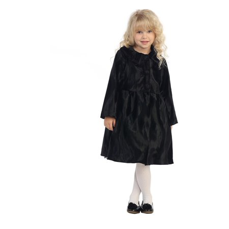 9ecd58eb2b52 Angels Garment - Angels Garment Little Girls Black Polished Shine ...