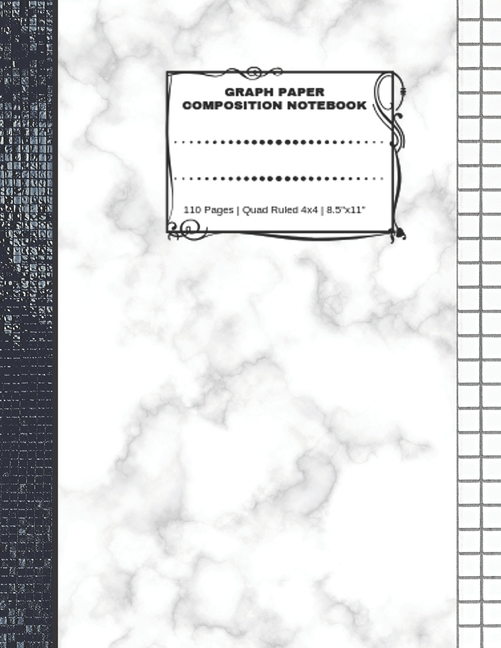 graph paper composition notebook  110 pages