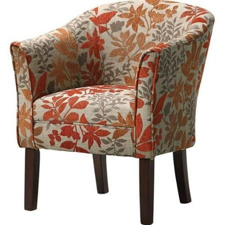 Coaster Barrel Club Chair In Autumn Floral Pattern