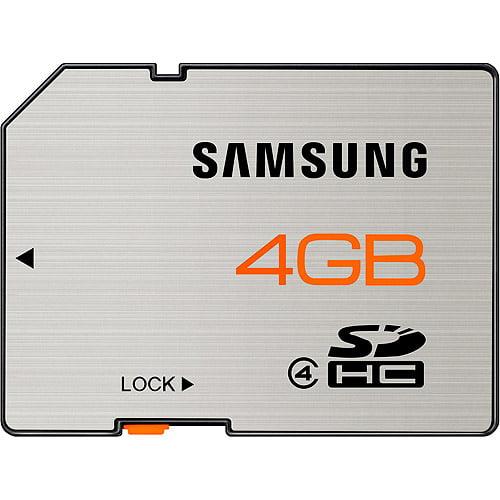 samsung 4 gb sdhc flash memory card, brushed metal - mb-ss4ga/us