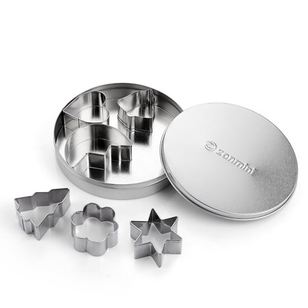 Cookie Cutter Basic - zanmini Z - basic Stainless Steel Basic Shape Cookie Cutter Set