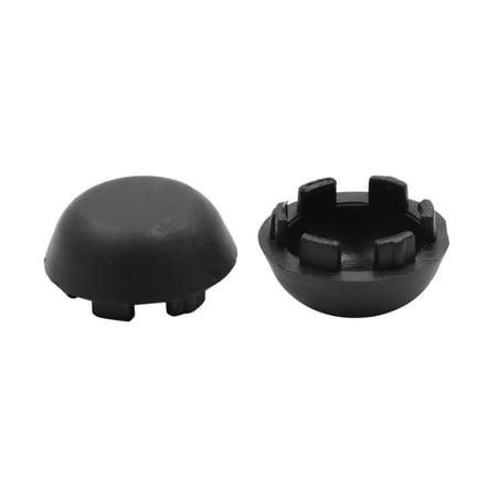 2pcs Black Plastic 19.5mm Screws Head Covers Bolts Nuts Caps for Auto