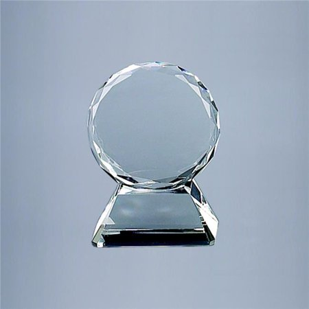 Trophy Base (Creative Gifts International 004126 5 in. Round Optic Glass Trophy On)