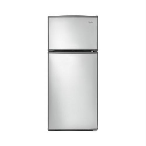 WHIRLPOOL 16 CU. FT. TOP-FREEZER REFRIGERATOR, STAINLESS STEEL, REVERSIBLE DOOR