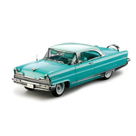 - 1956 Lincoln Premiere Hard Top Green Platinum 1/18 Diecast Model Car by Sunstar