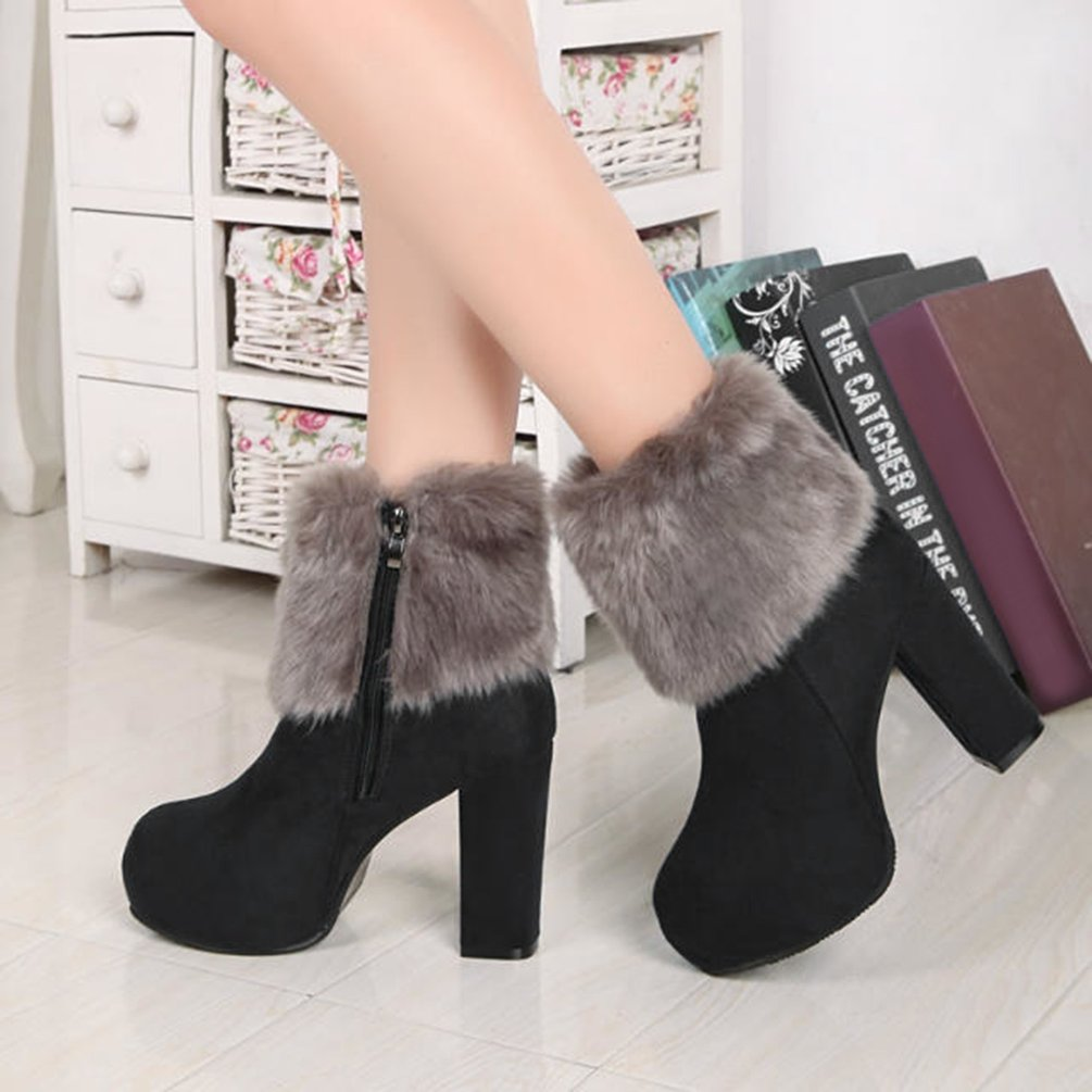 622e4066253 Hot Sale NEW Female Martin Boots High Chunky Heels Shoes Women Boots ...