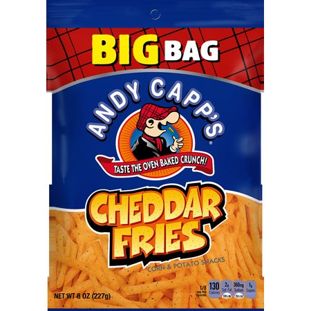 Andy Capps Cheddar Fries Corn   Potato Snacks  8 Oz