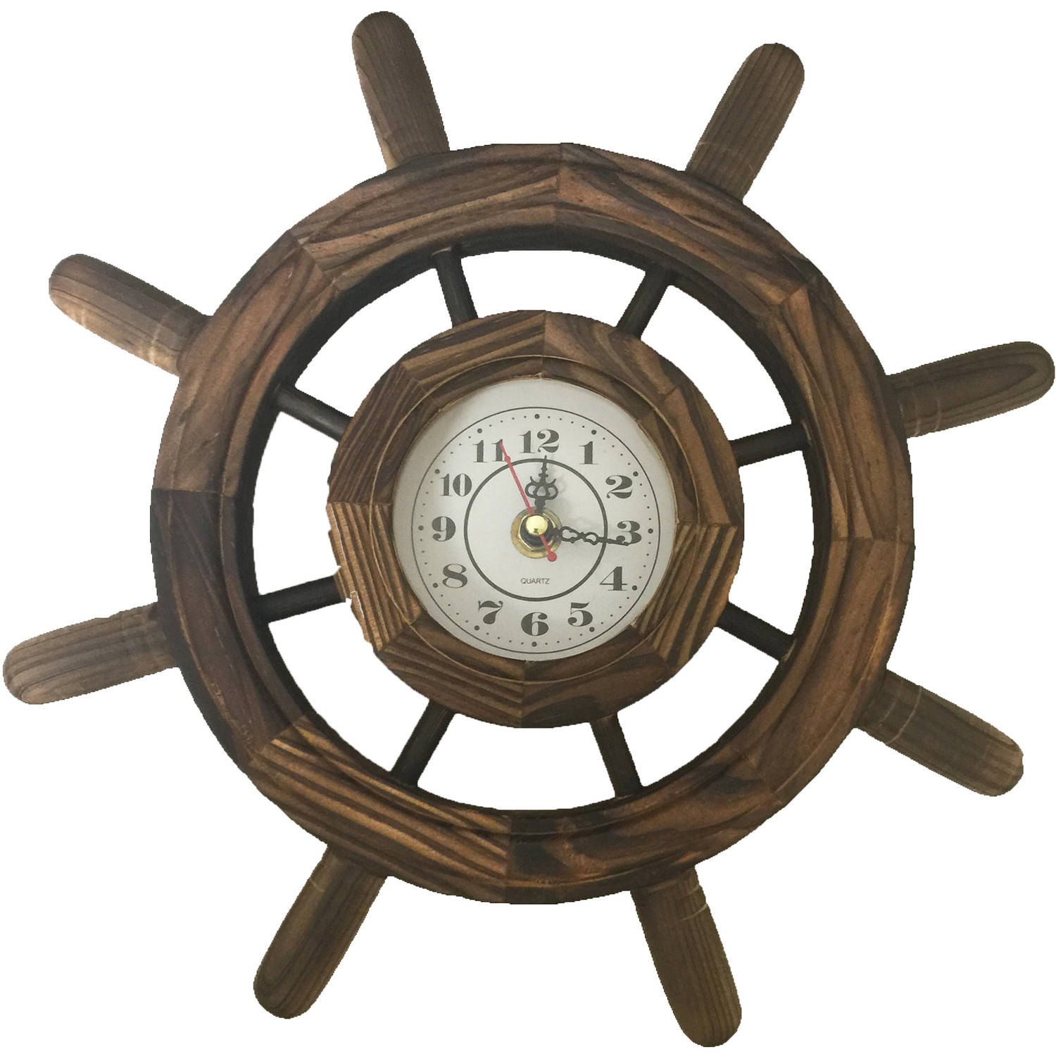 Creative Motion Industries, Inc. Steering Wheel Wooden Clock