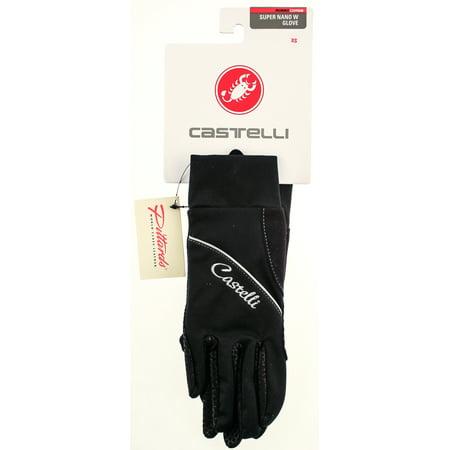 Castelli Black Bike Jersey (CASTELLI SUPER NANO DONNA Women's Bike Cycling Gloves XL Pair Finger Black)