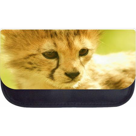 Cheetah Cub  - Black Pencil Bag - Pencil Case
