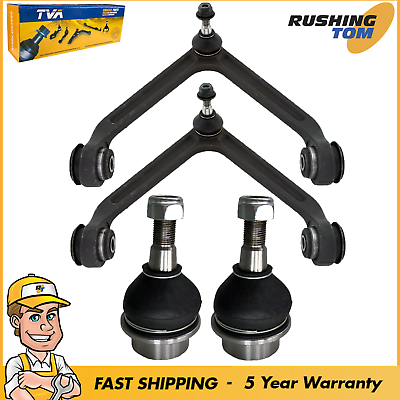 4Pc Front Upper Control Arm & Lower Ball Joint for 2003 2004 2005 Dodge RAM 1500 ()