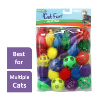 Multipet Value Pack Cat Toy, 24 Count