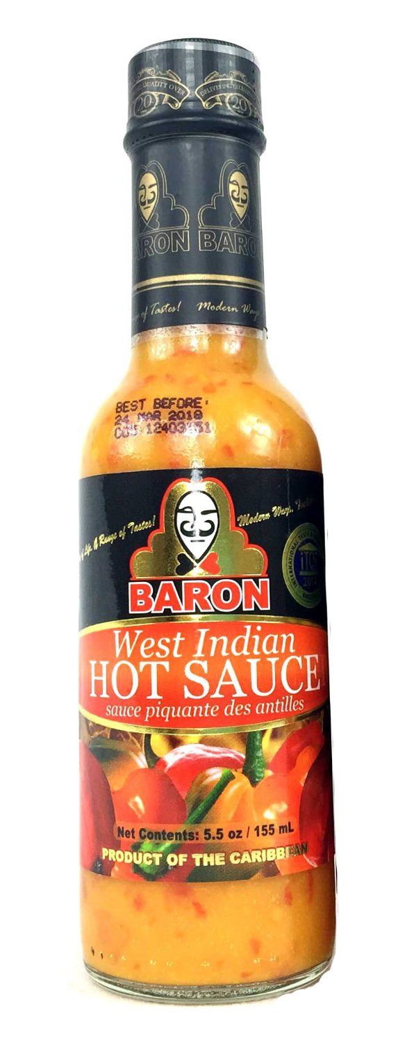 Baron All Natural West Indian Hot Sauce (2 Pack) by Baron Hot Sauce