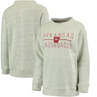 Arkansas Razorbacks Pressbox Women's Comfy Terry Crew Sweatshirt - Cream